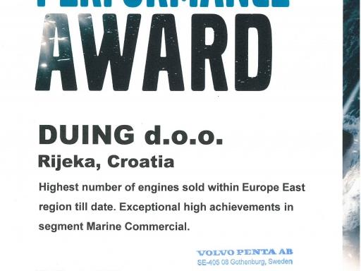 Duing d.o.o.  najuspješniji Volvo Penta centar